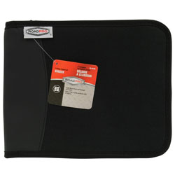 3-Ring Zippered Binder for Loose-Leaf Log Sheets Black LB-001BK