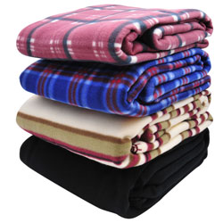 85x62 Fleece Blanket  Assortment RPAPB1