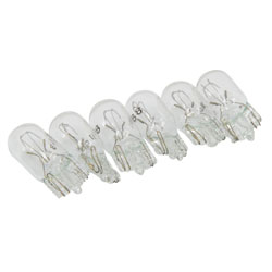 #168 Heavy-Duty Automotive Replacement Bulbs Clear 6-Pack RP-168