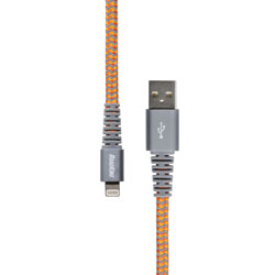 6 Heavy-Duty Lightning (R) Charge and Sync Cable  Orange(R) Char