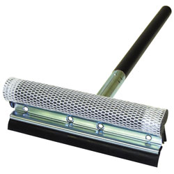 Deluxe 8 Metal Squeegee with 16 Wood Handle  Black Assembled 905
