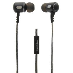 Premium Stereo Metal Earbuds with In-Line Mic  Black/Graphite MB