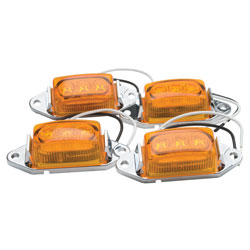 1.75x1 LED Clearance/Marker Lights Amber 4-Pack RP-1445A/4P