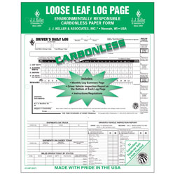 Duplicate 5-In-1 Large Loose-Leaf Driver's Log Carbonless 612MP