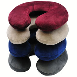 Neck Pillow with Microfiber Cover  Assorted Colors RP2807