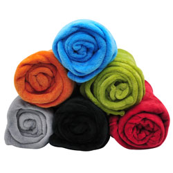 50x60 Plush Rolled Throw/ Blanket Assortment BCO18009