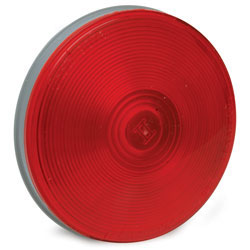 4.25 Round Sealed Light with 3-Prong Grote(R) Connector Red RP-5