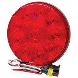 4 LED Low Profile Round Sealed Stop/Turn/Tail Light Red RP-5523/