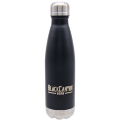 16oz. Water Bottle with Twist Lid  Black BCO16OZB