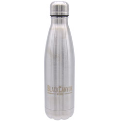 16oz. Water Bottle with Twist Lid  Silver BCO16OZSS