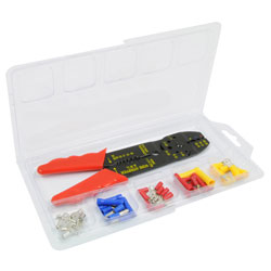 44-Piece Wire Terminal Kit w/Wire Cutting/Crimping Tool RPTK2